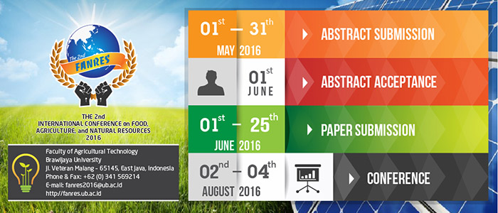 Second International Conference on Food Agriculture and Natural Resources (FANRES) 2016