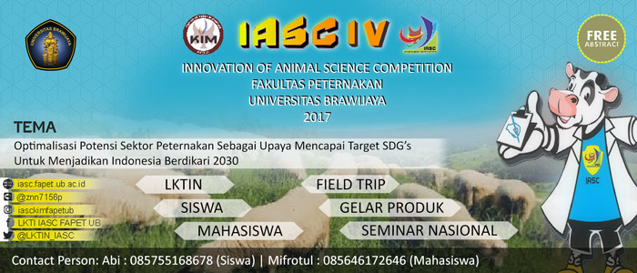 Innovation of Animal Science Competition - (IASC) IV