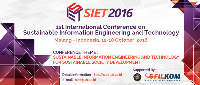 International Conference on Sustainable Information Engineering and Technology (SIET) 2016